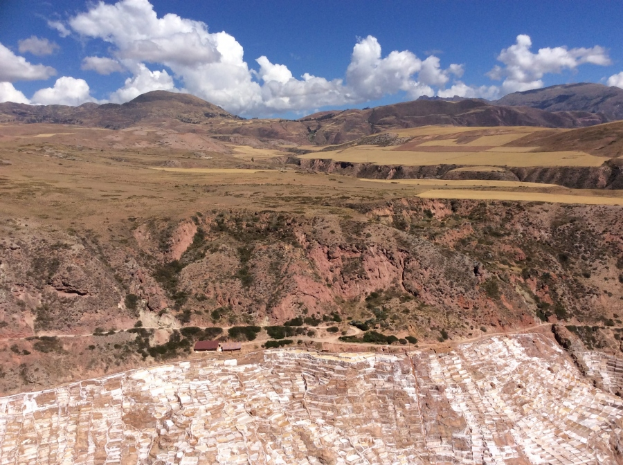 salt mine Maras day trek from Cusco Peru