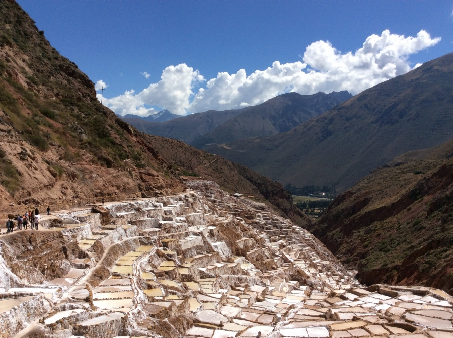 day trekking salt mine in Cusco Peru