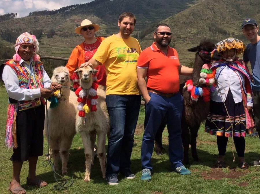 Hiking Peru with alpacas and llamas
