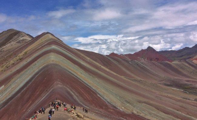 Rainbow mountain Vinicunca in Peru