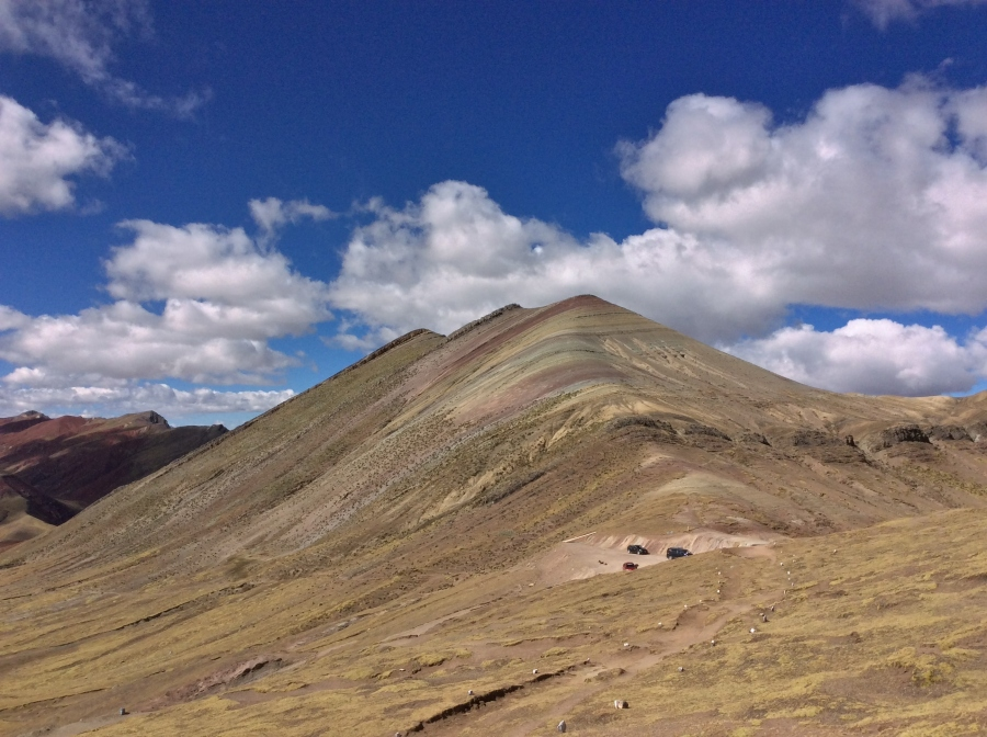 Palccoyo rainbow mountain in Peru